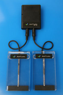 AirTurn Bluetooth BT-105 with 2 ATFS-1 Clear Foot Switches