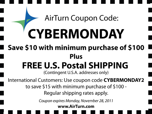 AirTurn's Cyber Monday Coupon